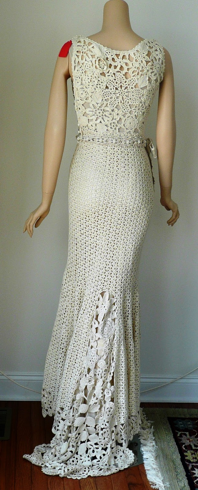 Crochet guild of america 2010 design competition results for Crochet wedding dress patterns