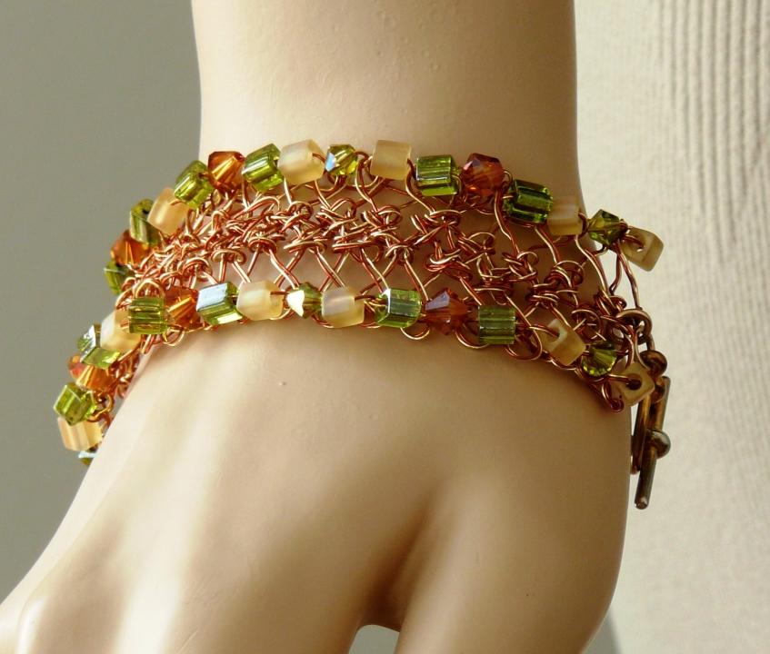 14 Hairpin Lace Bracelet