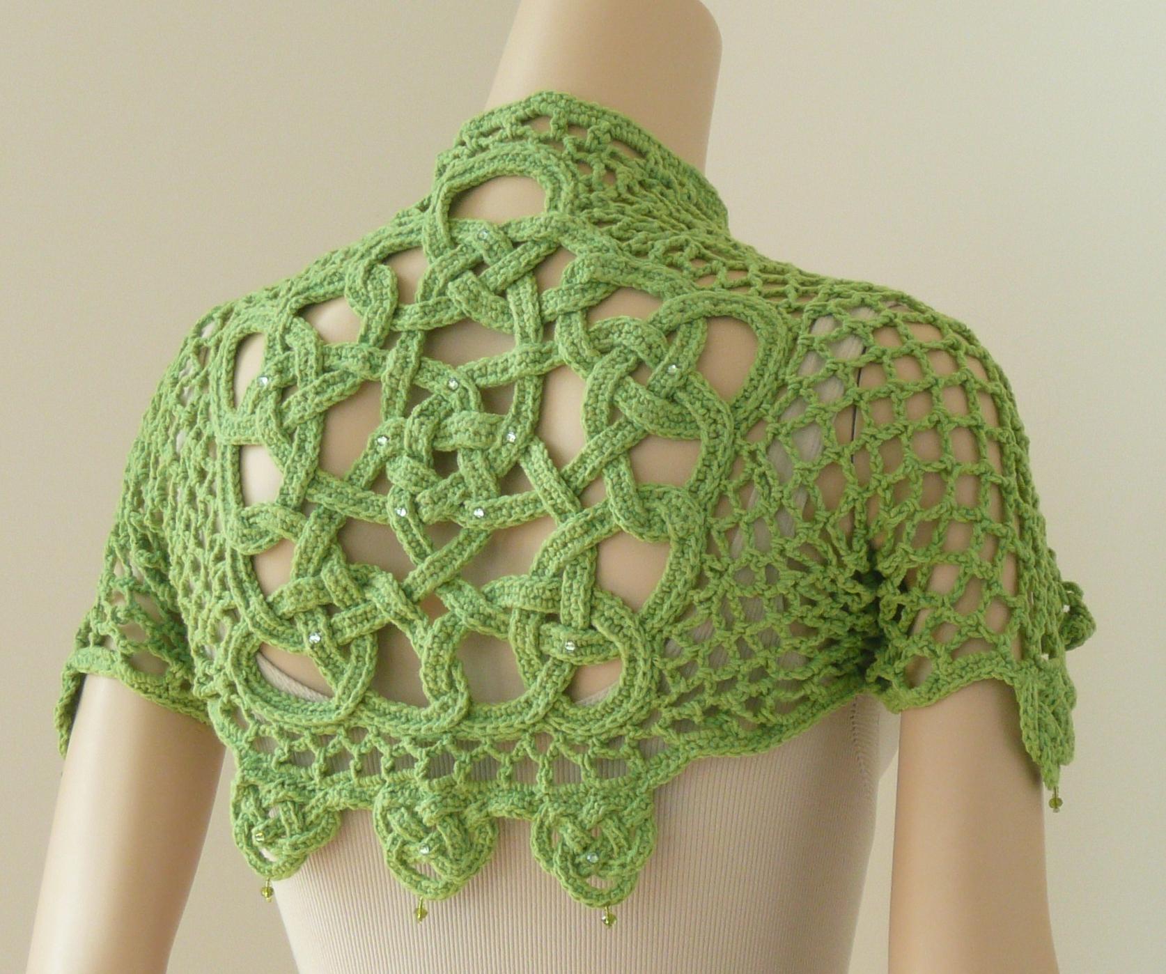 Crochet Pattern Design : 49 Glendalough Shrug Doris Chan Crochet