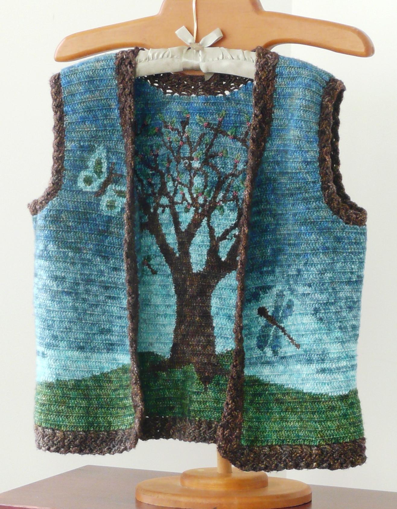 52 Reversible Rowan Tree Vest Doris Chan Crochet