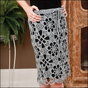 Exploded Lace Motif Skirt