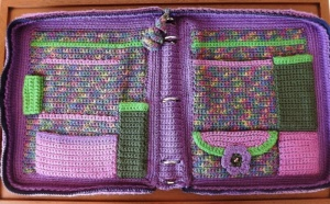 Rainbow Crochet Carryall by Cynthia Fiebig