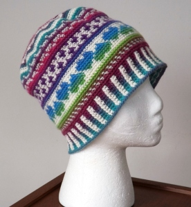 Fair Isle Love Beanie by Deja Jetmir