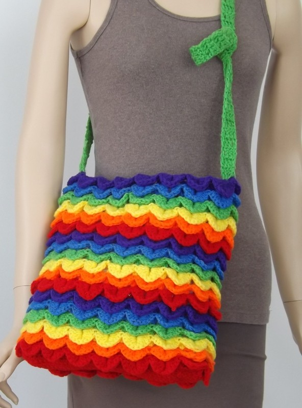 Crochet Rainbow Bag : Rainbow Bag by Peggy Ashby