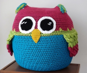Owl Sit With You Bean Bag Chair by Deborah Bagley