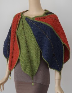 Fall Leaves Wrap, designed by Jessie Rayot