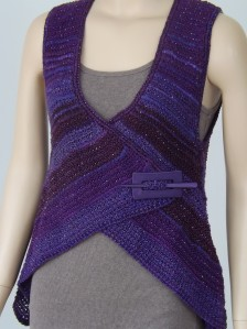 Purple Majestic Vest, designed by Maxine Pike