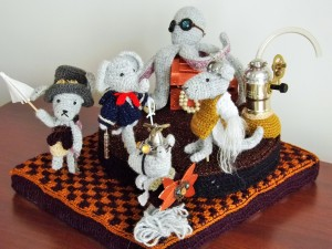 Steampunk Amigurumi Soiree, designed by Donna Childs