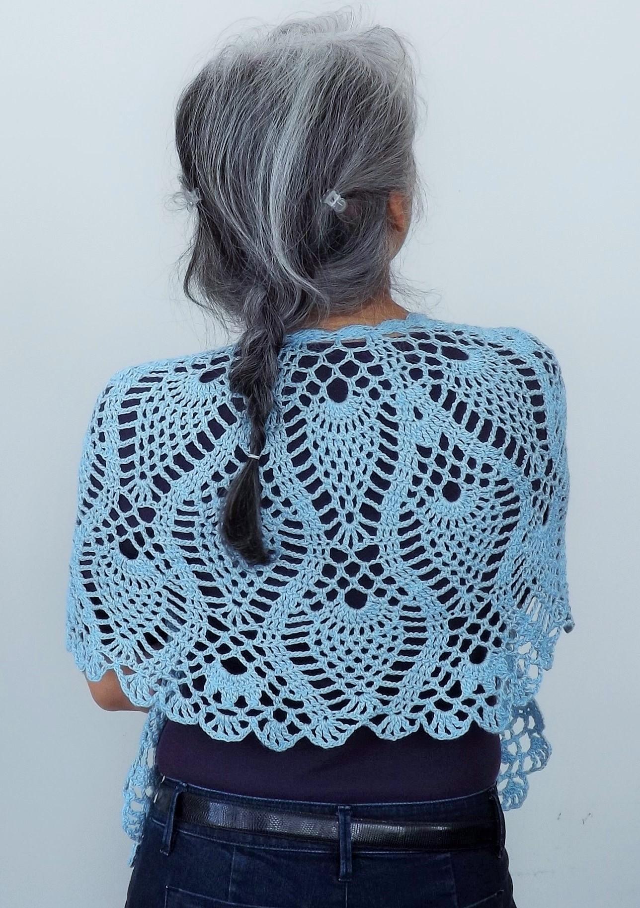 Pineapple Crochet Shawl Doris Chan Crochet